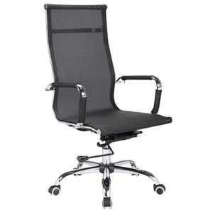 CHAISE DE BUREAU Chaise de bureau noire en maille - Dim : L 55 x P
