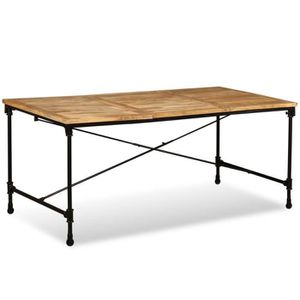 Festnight Table de Jardin Bois de Manguier Massif Table de ...