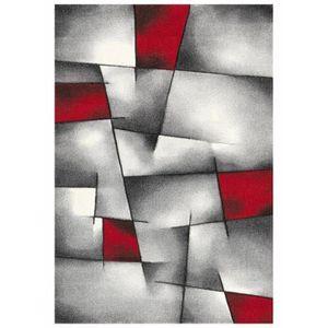 TAPIS BRILLANCE Tapis de salon  80x150 cm rouge, noir et
