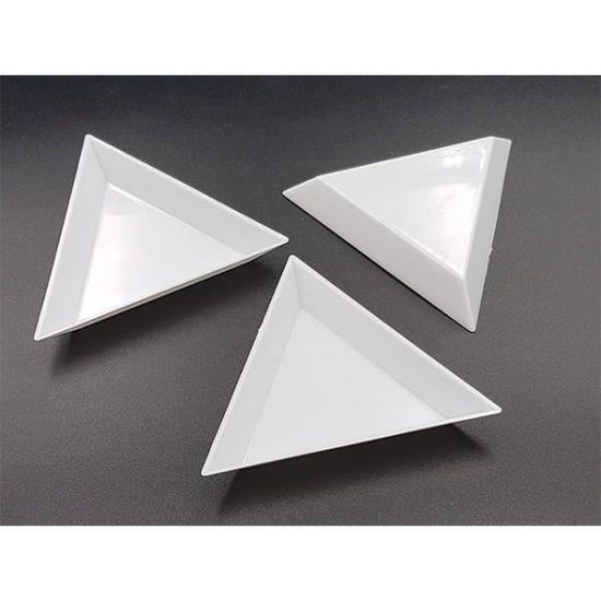 10 coupelles de tri pour perles forme triangulaire Neuf