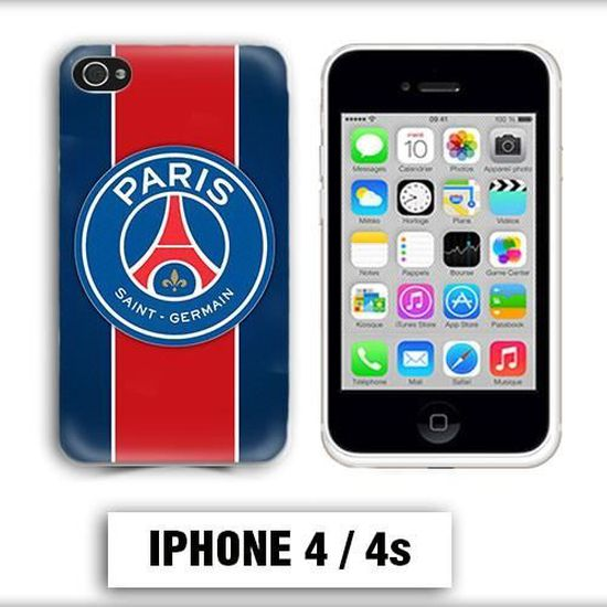 coque iphone 4 foot psg logo club