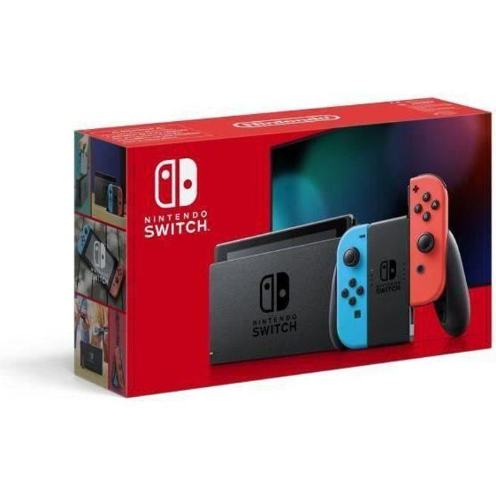 Console Nintendo Switch Néon: Nouvelle version, Meilleure autonomie - avec un Joy-Con bleu néon et un Joy-Con rouge néon