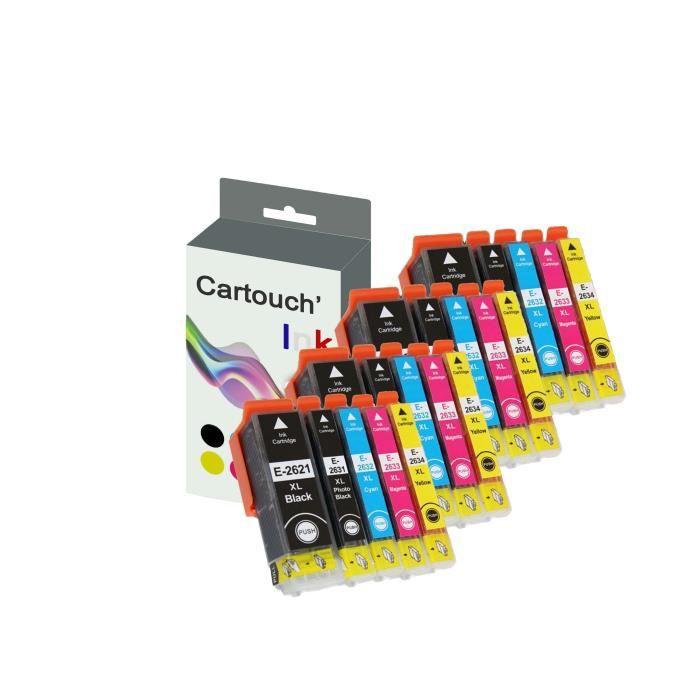 4 Packs de 5 Cartouches 26XL Compatible Premium EPSON...