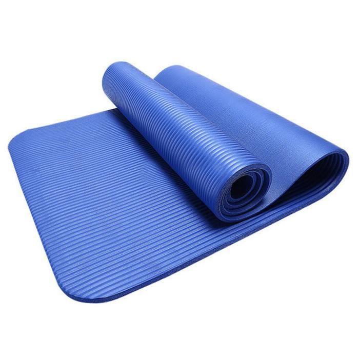 exquisgift®10mm épais tapis de yoga durable Antidérapant exercice fitness mat perdre du poids~WSS12042708