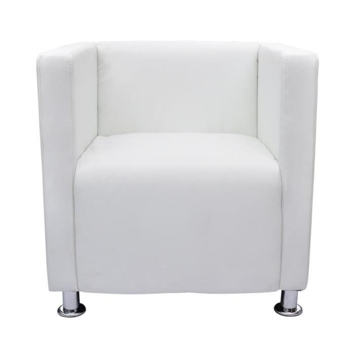 Magnifique Fauteuil Design Club Blanc