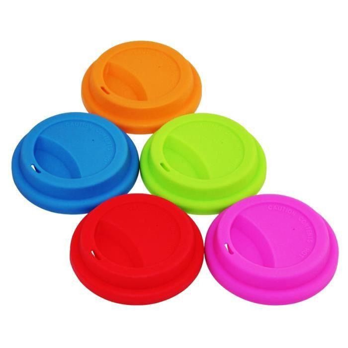 5 pièces couvercle de tasse réutilisable en silicone bouteille d'eau ACCESSOIRES BEAUTE - BIEN-ETRE - PIECES BEAUTE - BIEN-ETRE