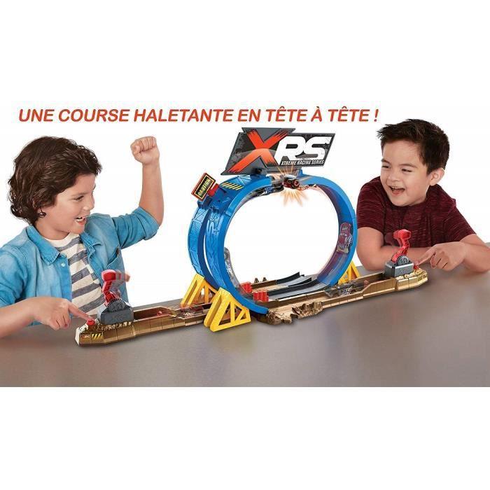 Double circuit+voiture-Disney Pixar Cars- 2 propulseurs de voiture-Cascades,crashs et loopings.Sensationnel! Coffret Ultime