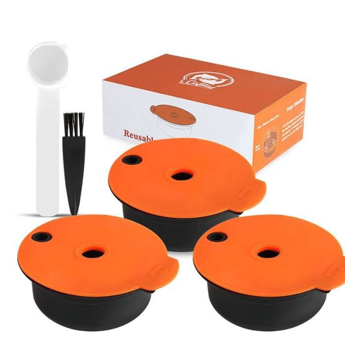 ICafilas – Capsules de café rechargeables, compatibles avec la Machine bosh-s, Tassimoo, dosette réutilisable, crème [DF7D23C]