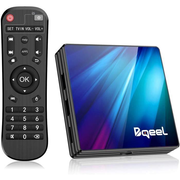 Bqeel Android 9.0 【4G+64G】 TV Box Bluetooth 4.0 R1 Plus RK3318 Quad-Core 64bit Cortex-A53 USB 3.0 Box Android TV LAN100M Wi-FI 2.4G/
