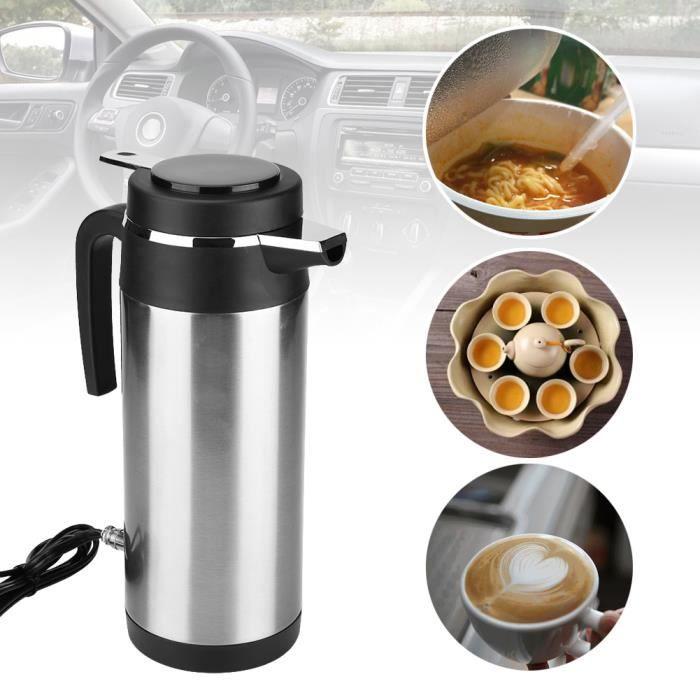 Bouilloire Electrique Chauffe-Eau Cafetière Thé Allume Cigare Voiture Camping 1200ML 24V HB018 -QNQ