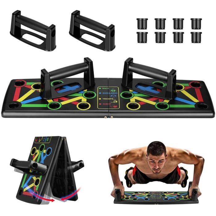 Push Up Board, 14 en 1 Pliable Planche de Musculation, équipement d'Entrainement Les Muscles pour D'intérieur Fitness à Domicile