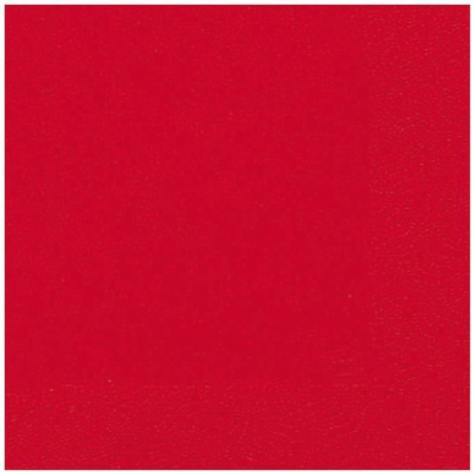 DUNI - 20 Serviettes ouate 33x33cm 3 plis Rouge