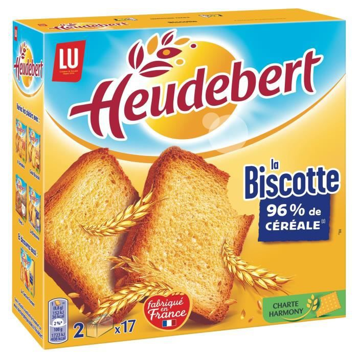 Heudebert Nature 34 biscottes 300g