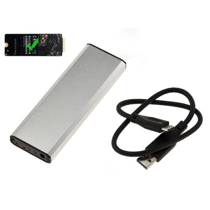 Boitier Aluminium USB 3.0 Pour SSD MACBOOK PRO ANNEE 2012 SSD 8+18 PIN