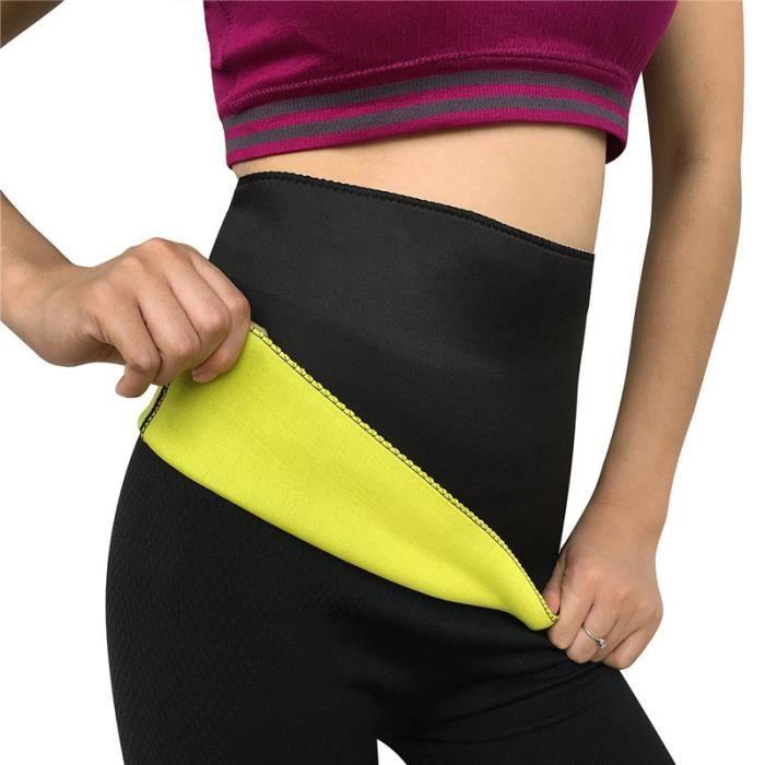 1pcs Ceinture de sudation neoprene - minceur et ventre plat en néoprène fitness -taille L