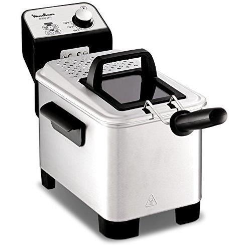 Moulinex Easy Pro 3 L Friteuse classique 2 300 W 2 niveaux de cuisson thermostat réglable 2 L 600 g Argenté AM338070