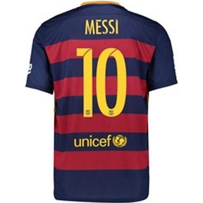 Maillot Authentique Match enfant Nike Fc Barcelone Saison 2015/2016 Flocage Officiel Messi numéro 10