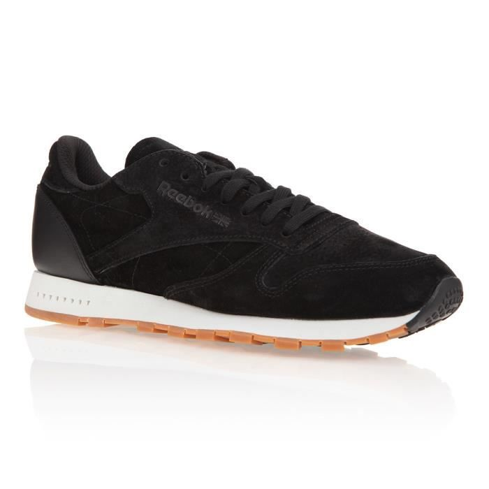REEBOK Baskets Classic Leather SG - Homme - Noir et blanc