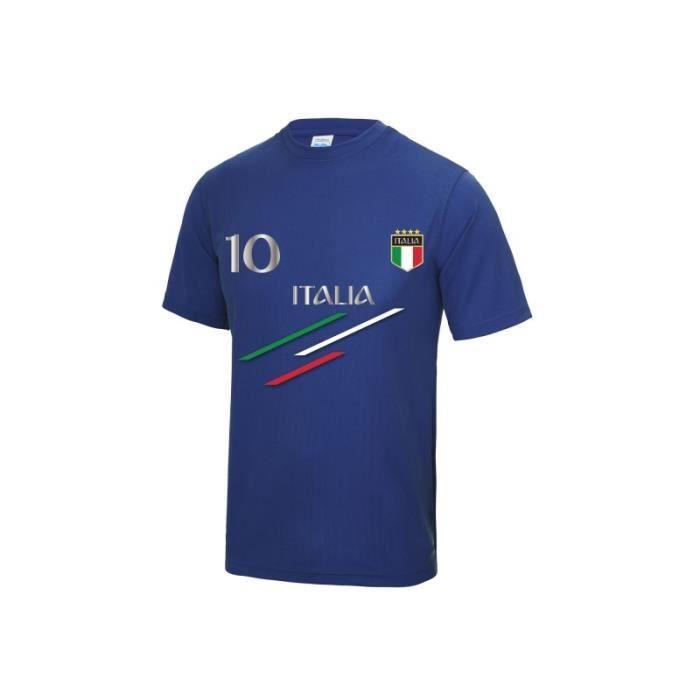 Maillot de Foot Italie homme Taille XS à 3XL (XS - bleu)