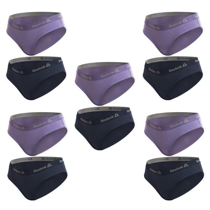 Lot de 10 culottes pour femme de la marque REEBOK en lilas et bleu