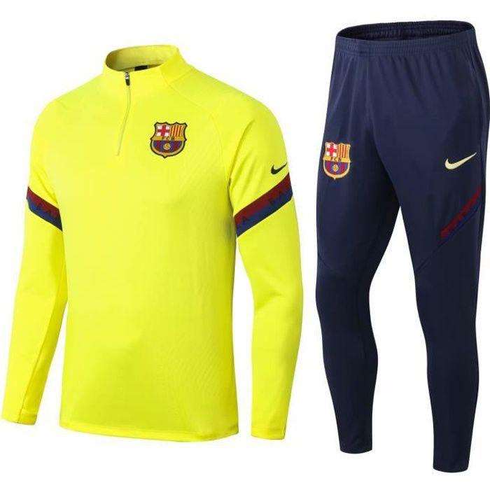 Nouveau Barcelones Survêtement Maillot de Foot Survet Kit Barcas 2020 2021 Barcelonas Pas Cher pour Homme