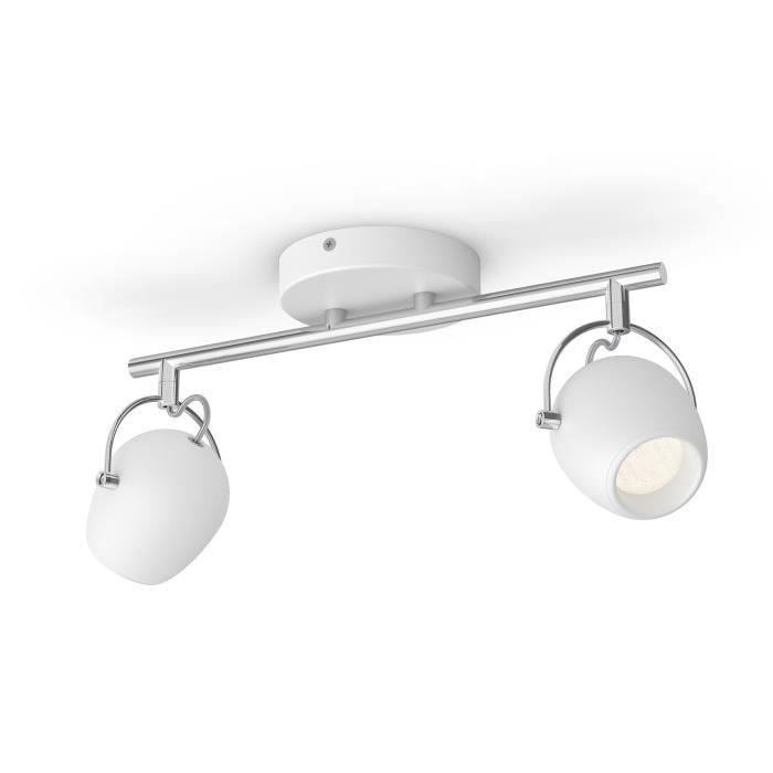 Philips myLiving Double spot Rivano 5061231P0, Rail lighting spot, 2 ampoule(s), LED, 4,3 W, 860 lm, Blanc