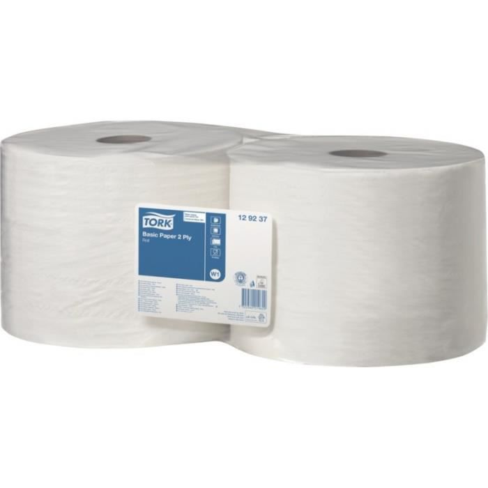 Papier d'essuyage Basic Bobine W1, 510 m, vendu par lot de 2 - TORK 129237 (Par 2)