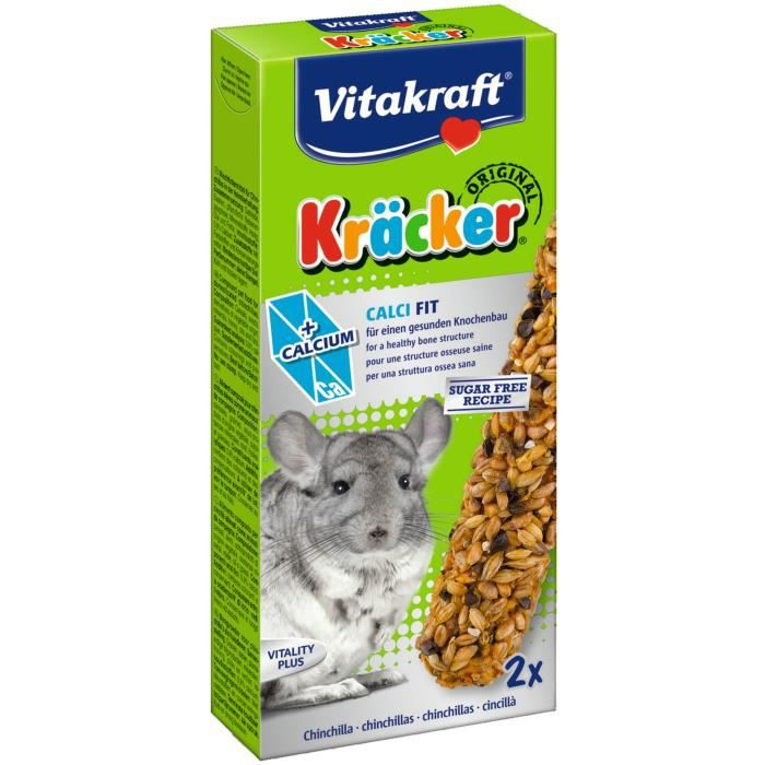 VITAKRAFT Kräcker Calci Fit P/2 - Pour chinchillas