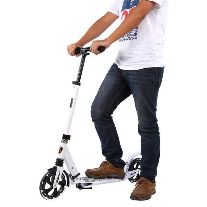 Trottinette pliant Scooter avec 2 roue antichoc réglable en hauteur jouet cadeau Adulte Enfant - XY FR