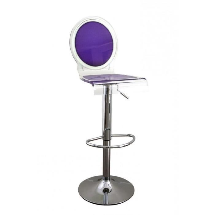 tabouret chaise de bar sixteen violet plexiglass a achat. Black Bedroom Furniture Sets. Home Design Ideas