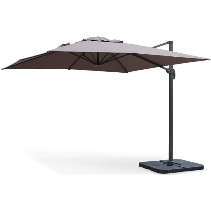 falgos parasol d port carr 3x3m taupe achat vente parasol parasol d port 3x3m falgos. Black Bedroom Furniture Sets. Home Design Ideas