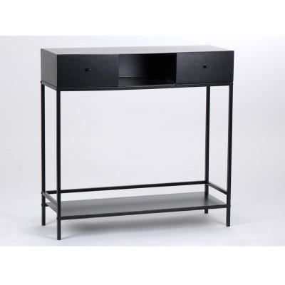 console m tal noir amadeus 90x30 achat vente console console m tal noir amadeus cdiscount. Black Bedroom Furniture Sets. Home Design Ideas
