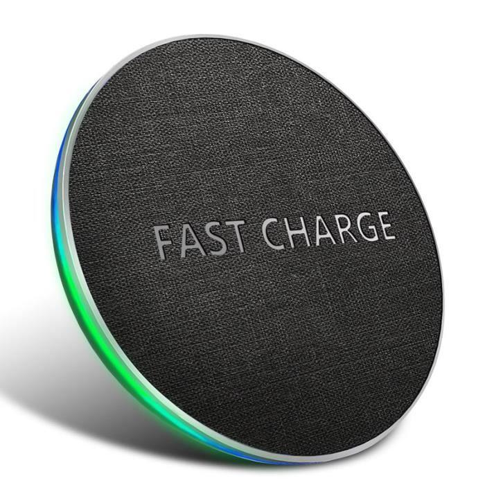 CHARGEUR TÉLÉPHONE Lamchin 10W Qi Chargeur sans fil induction pour iP
