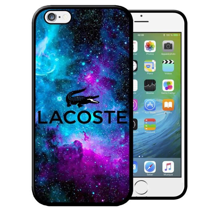coque iphone 6 6s lacoste galaxie logo croco swag
