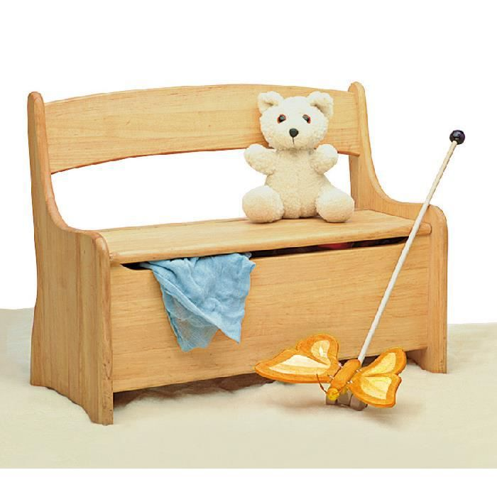 banc coffre jouets en aulne massif achat vente. Black Bedroom Furniture Sets. Home Design Ideas