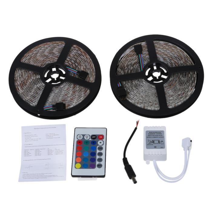 BANDE - RUBAN LED 2x 5m 10m Bande Ruban Flexible Lumineux 5050smd 60