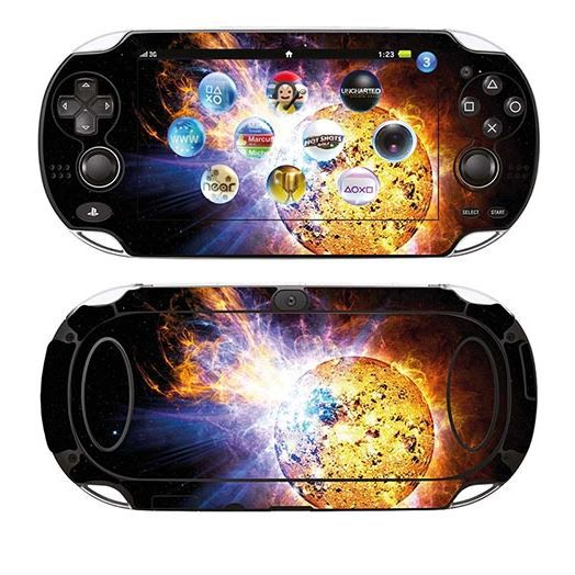 skin stickers pour sony ps vita sticker eruption solaire achat vente sticker skin. Black Bedroom Furniture Sets. Home Design Ideas