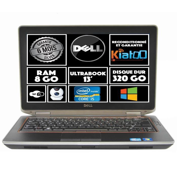 ordinateur portable dell latitude e6320 intel core i5 8go. Black Bedroom Furniture Sets. Home Design Ideas