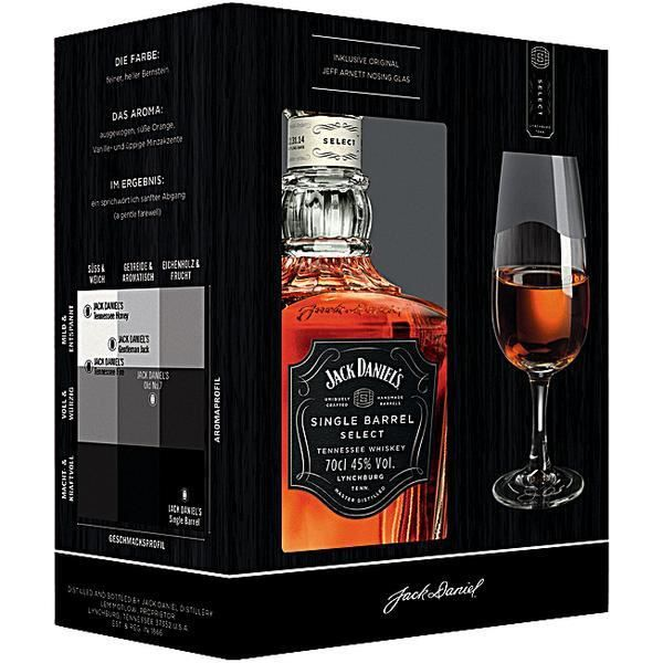 WHISKY BOURBON SCOTCH Jack Daniels Single Barrel Select 45% vol. 70cl Gi