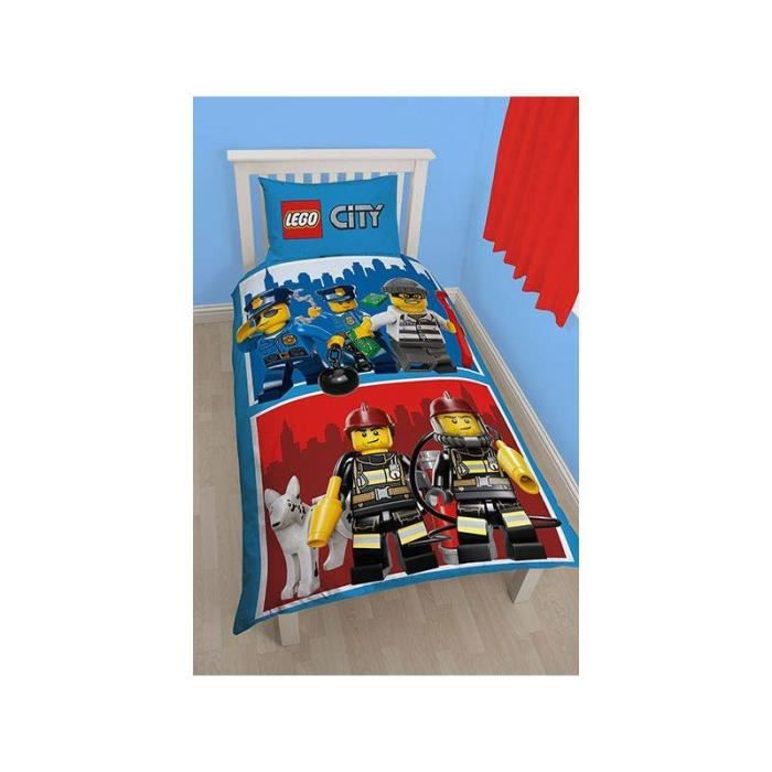 housse de couette lego city achat vente housse de couette cdiscount. Black Bedroom Furniture Sets. Home Design Ideas