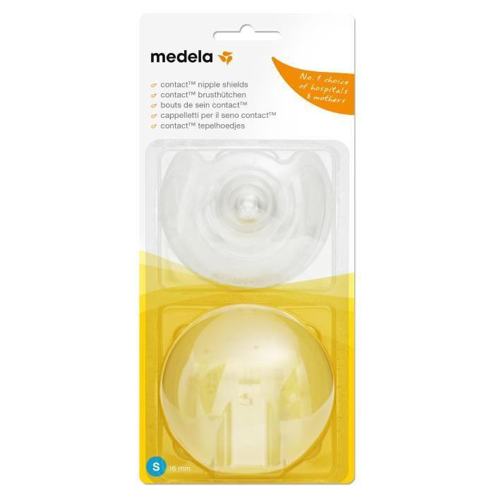 16 mm Nipple Shield Medela 16 mm contact Téton Boucliers avec Case Small