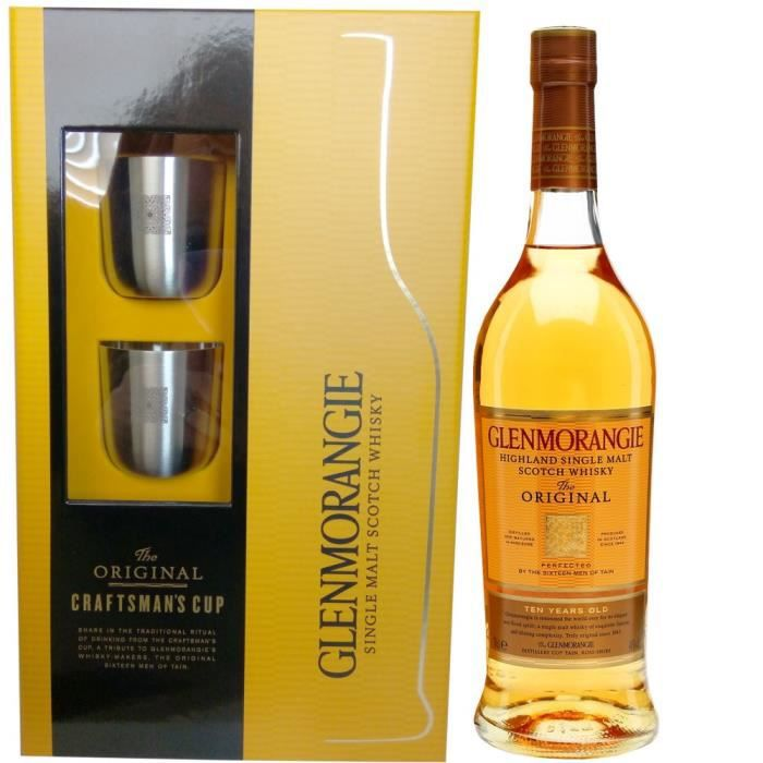 coffret whisky glenmorangie 2 verres 70cl achat vente glenmorangie original coffret. Black Bedroom Furniture Sets. Home Design Ideas