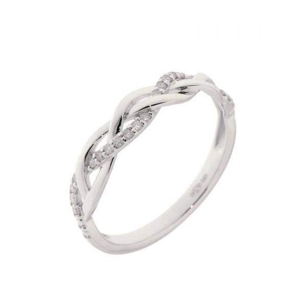 ... alliance - solitaire Bague or blanc Diamant Femme Adulte Or blanc
