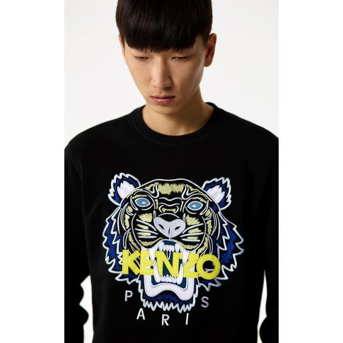 KENZO Sweat Tigre Noir (Nouvelle collection)