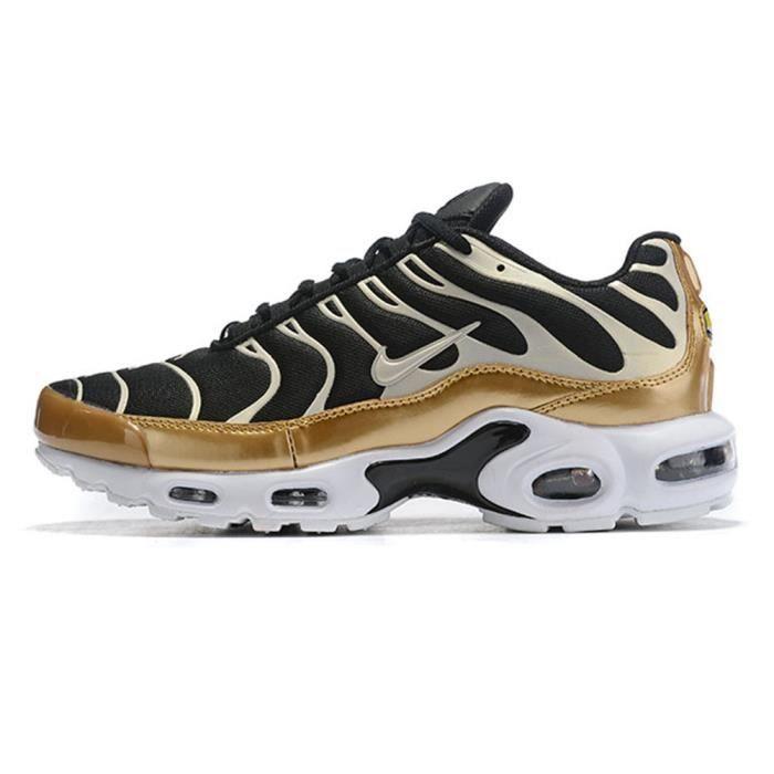 Nike Baskets Air Max TN Plus Chaussures de Course homme Or noir ...