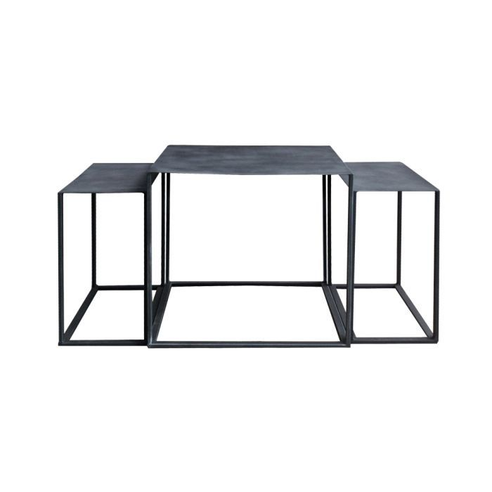 table gigogne loft grise achat vente table basse table gigogne loft grise cdiscount. Black Bedroom Furniture Sets. Home Design Ideas