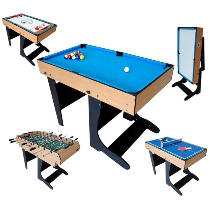 Billard table multi jeux 12 en 1 pliable achat vente table multi jeux c - Table multi jeux enfant ...