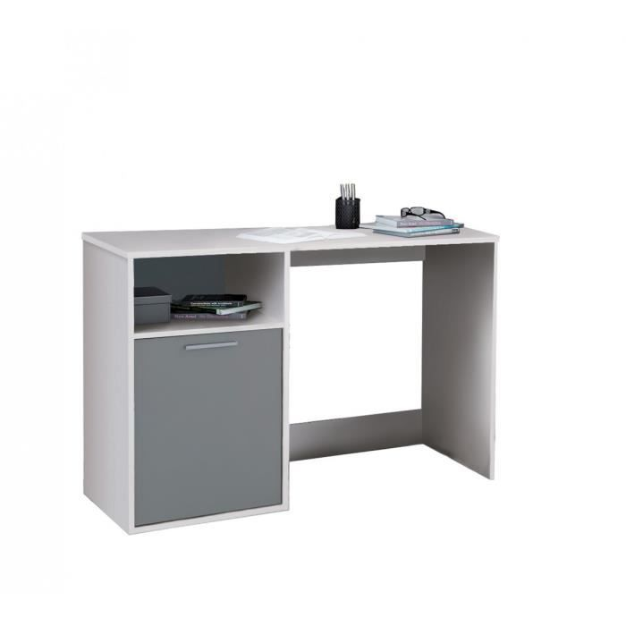 bureau enfant blanc et gris nowan achat vente bureau. Black Bedroom Furniture Sets. Home Design Ideas