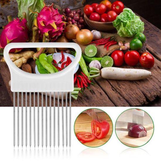 Coupe-légumes Couper l/'aide-Protège oignons stable et crée même Tranches