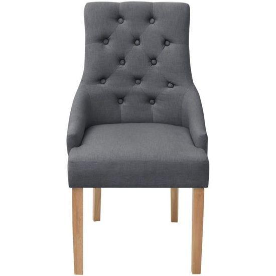 1x salle à manger chaise de cuisine Chaises Salon Chaise Accoudoir Velours Rembourré #1564